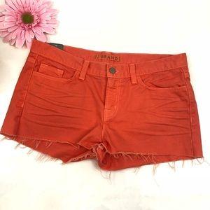 J Brand cut off low rise jean shorts